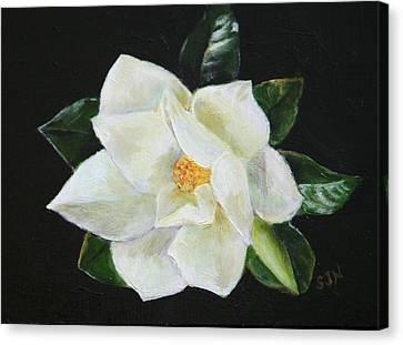 Our Magnolia Canvas Print by Sandra Nardone