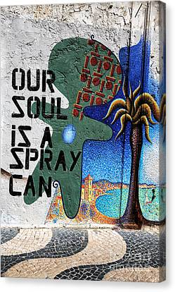 Our Soul Is A Spray Can Canvas Print by John Rizzuto