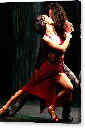 Our Tango Canvas Print by James Shepherd