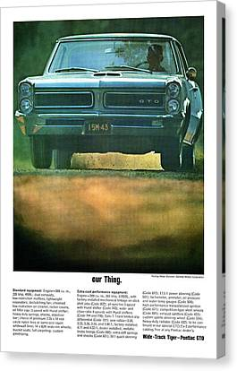 our Thing. 1965 Pontiac GTO Canvas Print