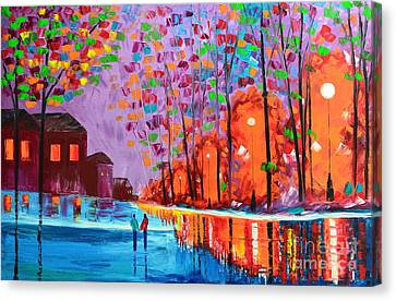 Our Town Canvas Print by Mariana Stauffer