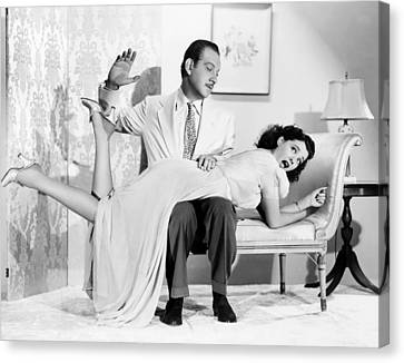 1941 Movies Canvas Print - Our Wife, Melvyn Douglas, Spanking by Everett