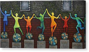 Our World Canvas Print by Linda Carmel