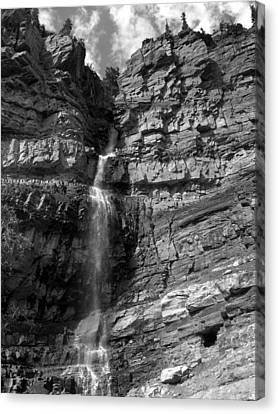 Canvas Print featuring the photograph Ouray Waterfall by Robert Lozen
