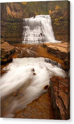 Canvas Print featuring the photograph Ousel Falls by Aaron Whittemore