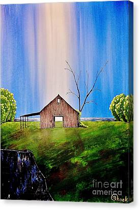 Out At The Farm Canvas Print by Kyle  Brock