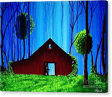 Out Behind The Barn II Canvas Print by Kyle  Brock