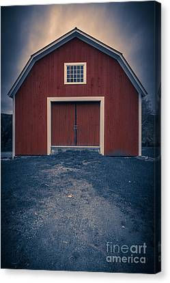 Out By The Barn Canvas Print by Edward Fielding