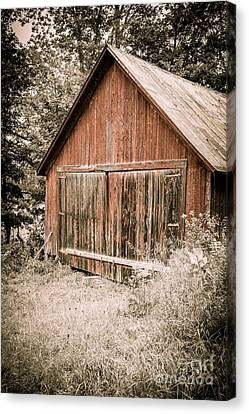 Out By The Woodshed Canvas Print