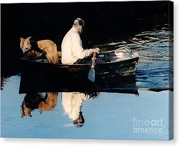 Canvas Print featuring the photograph Out For A Boat Ride by Susan Crossman Buscho