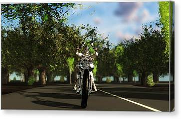 Canvas Print featuring the digital art Out For A Ride... by Tim Fillingim