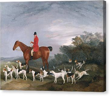 Chestnut Horse Canvas Print - Out Hunting by Richard Barrett Davis