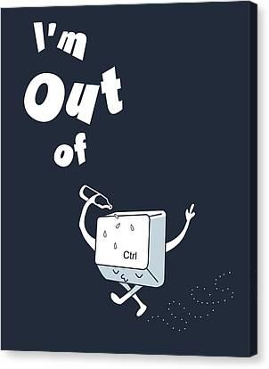 Out Of Ctrl Canvas Print by Neelanjana  Bandyopadhyay
