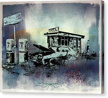 Out Of Fuel Canvas Print by Bedros Awak