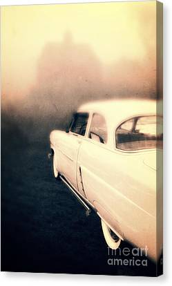 Creepy Canvas Print - Out Of Gas by Edward Fielding