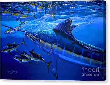 Swordfish Canvas Print - Out Of The Blue by Carey Chen