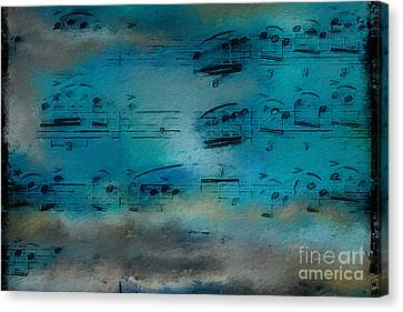 Canvas Print featuring the digital art Out Of The Blue by Lon Chaffin
