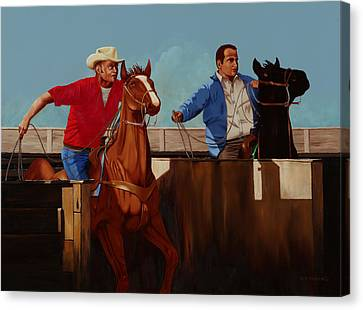 Heeler Canvas Print - Out Of The Chute by Hugh Blanding