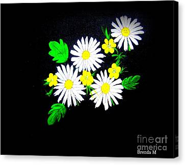 Out Of The Darkness Comes Light Canvas Print by Brenda Mayall