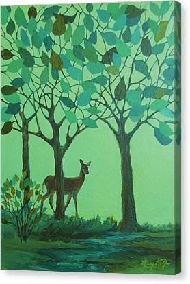 Out Of The Forest Canvas Print by Mary Wolf