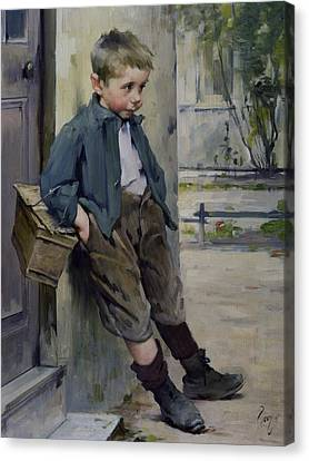 Out Of The Game Canvas Print by Henri Jules Jean Geoffroy