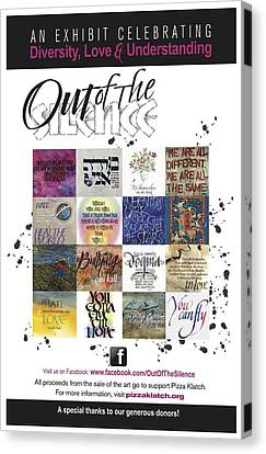 Diversity Canvas Print - Out Of The Silence Poster by Design Edge