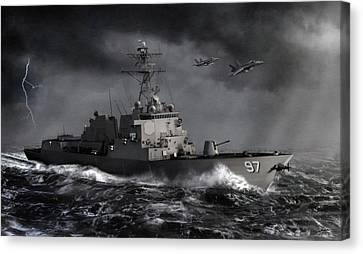 Dale Jackson Canvas Print - Out Of The Storm by Dale Jackson