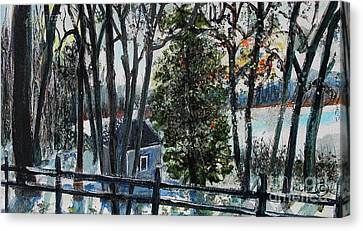Out Of The Woods At Walden Pond Canvas Print