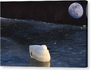 Out Of This World Ice Climbing Canvas Print