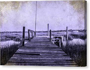 Out On The Pier  Canvas Print by Steven  Taylor