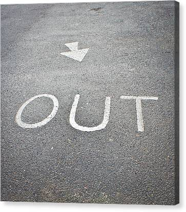 Out Sign Canvas Print by Tom Gowanlock