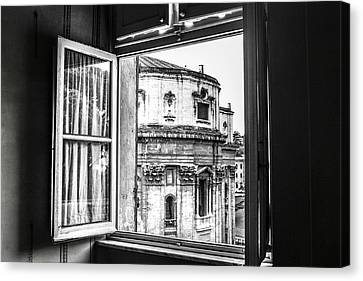 Out The Window Canvas Print by Steven  Taylor