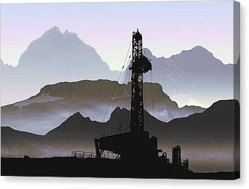 Out There Drilling Canvas Print