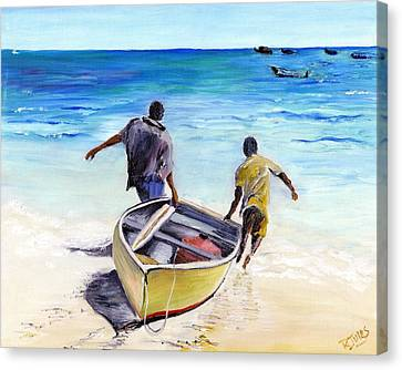 Out To Sea Canvas Print by Richard Jules