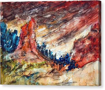 Out West Canvas Print by Ron Stephens