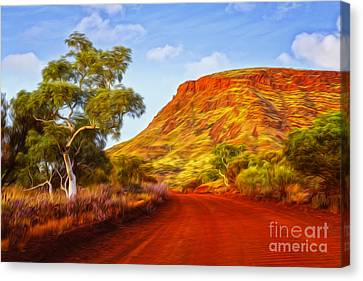 Outback Road Australia Canvas Print by Colin and Linda McKie