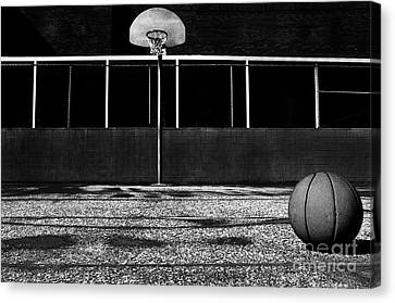 Outdoor Basketball Court Canvas Print