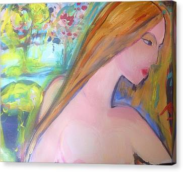Outdoor Bath Canvas Print by Judith Desrosiers