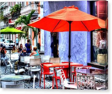 Puerto Rico Canvas Print - Dining Alfresco by Debbi Granruth
