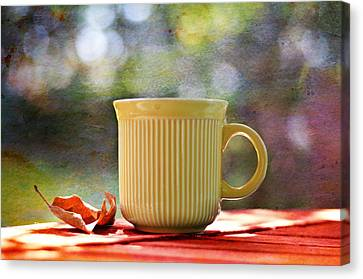 Outdoor Cafe Canvas Print by Laura Fasulo
