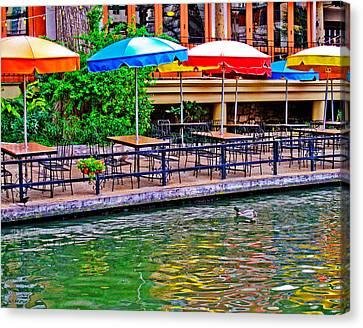 Outdoor Dining Canvas Print by David and Carol Kelly