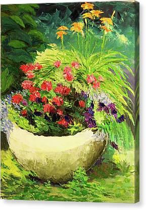 Outdoor Flower Pot  Canvas Print