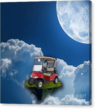 Outdoor Golfing Canvas Print by Marvin Blaine