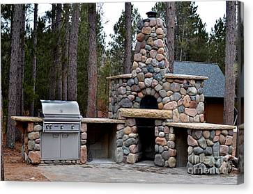Outdoor Kitchens Canvas Print by The Stone Age