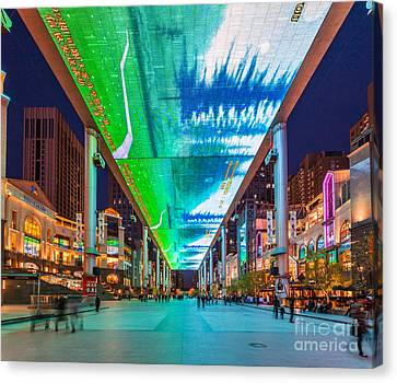 Canvas Print - Outdoor Lcd Screen In Beijing China by Fototrav Print