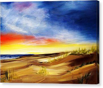 Outer Banks High Color Extra Large Beach North Carolina Canvas Print by Katy Hawk