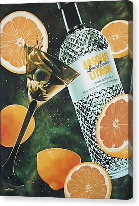 Outer Citron Canvas Print