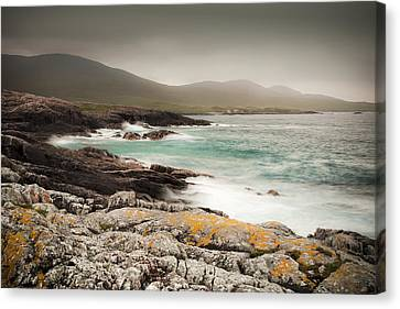 Outer Hebrides Waves Canvas Print by Ray Devlin