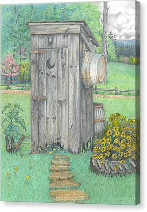Outhouse Canvas Print by David Gallagher