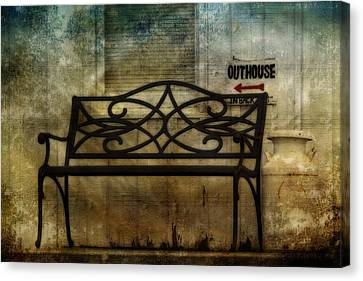 Outhouse-in Back Canvas Print by David Simons
